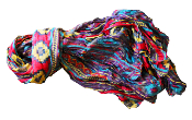 crinkled cotton scarf, aztec pattern cotton scarf, handmade, sijjl, fall fashion, winter fashion, spring fashion, casual scarf