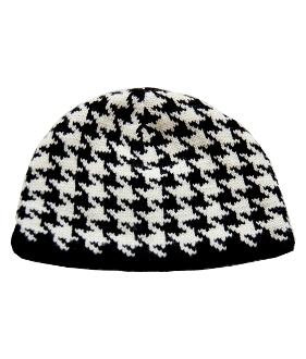 Dogtooth black and white
