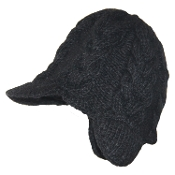 Ribbed Earflap Bill Hat