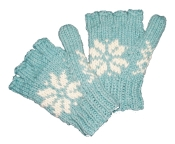 Snowflake Knitted Half Gloves
