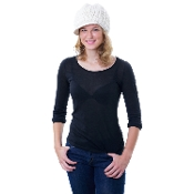 ivory crochet wool bill hat