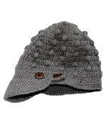 Grey Button Bill Hat