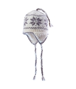 snow flake earflap fleece hat