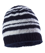 striped black beanie fleece lining