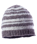 striped gray beanie fleece lining