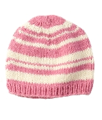 striped pink beanie fleece lining
