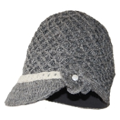 Flower-Fishnet Bill Hat