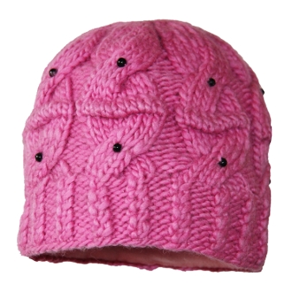 Beaded Cable knit Beanie