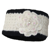 Black & White Flower Headband