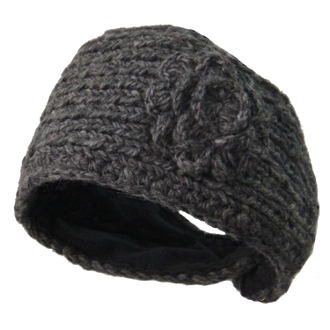 Grey Flower Headwrap