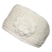 Ivory Flower Headwrap