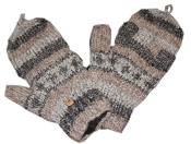 Grey striped Knitted GloMitts