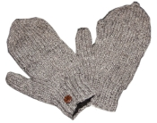 Plain gray Knitted GloMitts